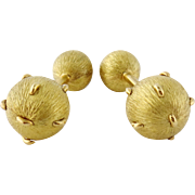 Estate Tiffany & Co Jean Schlumberger 18K Yellow Gold Cufflinks