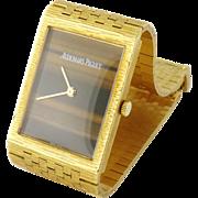 Vintage Estate Audemars Piguet Men's 18K Gold Tiger's Eye Wristwatch Watch