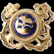 Vintage Lacloche Paris 18K Enamel French Military Nautical Clip Badge