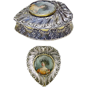 Antique Tiffany & Co Sterling Silver Portrait Large Jewelry Box, c.1900
