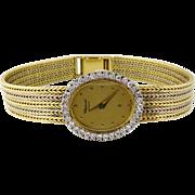 Vintage Chopard 18K Gold & Diamond Lady's Wristwatch, c. 1970-1980s