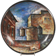 "Painted Ceramic Plaque by Lidya Buzio - ""New York City"""