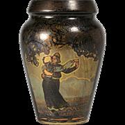 French Art Nouveau - Secessionist Polychrome Art Metal Vase