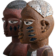 Old Yoruba African Carved Wood Sculpture 1920's - 1940's