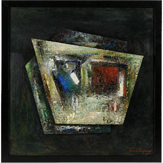 French Mid-Century Abstract Painting by Andre Vigneau