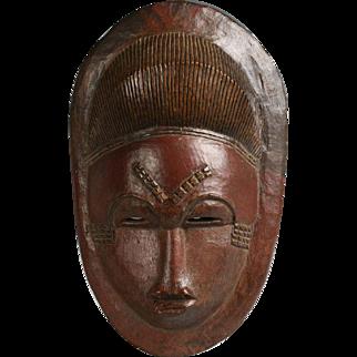 Antique African Baule Mask - Ivory Coast