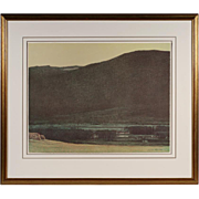 Western American Signed Lithograph by Russell Chatham