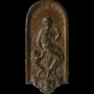 Art Nouveau NeoClassical Bronze Plaque - 19th Century