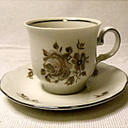 SAVE 25% - Vintage - Bavaria ~  Demitasse Set ~ Brown Bouquet Pattern