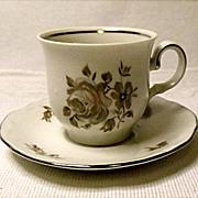 SAVE 25% - Vintage - Bavaria ~  Demitasse Set ~ Brown Bouquet Pattern