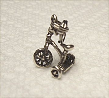 Tricycle Silver Charm 925  Ready For Your Bracelet