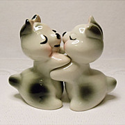 RARE Bunny Hug Set - Signed R. Bendel - aka Ruth Van Tellingen Salt and Pepper Snuggle-Hugs, Mid Century