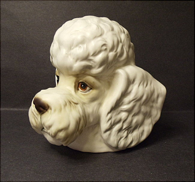 Vintage Inarco Poodle Dog Head Vase No. E2517  Made In Japan - MIJ