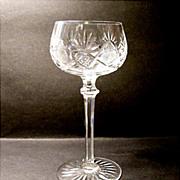 Val St. Lambert Cut Crystal Stem - Berncastel Hock Wine Goblet  1930's