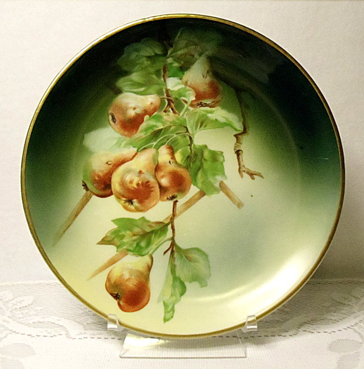 Vintage Hutschenreuther Selb Bavaria Germany Pears Cabinet Plate