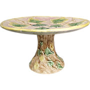 Excellent Antique Etruscan  Majolica Cake Stand - Griffen, Smith,  and Hill, Phoenixville, PA - Red Tag Sale Item