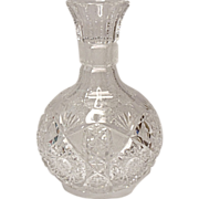 SALE SAVE 20% - A. L. Blackmer - American Brilliant Period ABP Deep And Rich Cut Crystal Carafe