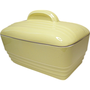 Vintage Hall China Company - Canary Yellow Westinghouse Casserole