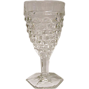Vintage - Fostoria American Hexagon Footed Water Goblets Pattern #2056 - 5 Available