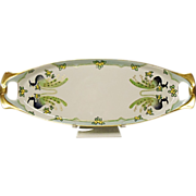 RS Germany Hand Painted Celery Tray - Tillowitz - Silesia  Ca. 1924