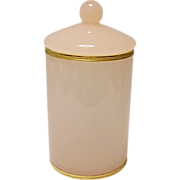 Save 20% - Lovely Vintage Pink Opaline Storage Jar Ormolu Accented