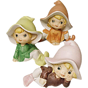 Home Interiors, Inc. - Homco Sprites - Pixies - Elves - Set of Three  1970's