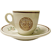 Vintage Missouri State Seal - Demitasse Cup and Saucer Set