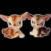 SAVE 20% - Vintage - Made In Japan - Sweet Little Deer Salt and Pepper Shaker Set