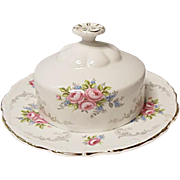 Royal Albert Bone China Tranquillity Round Covered Butter - ENGLAND