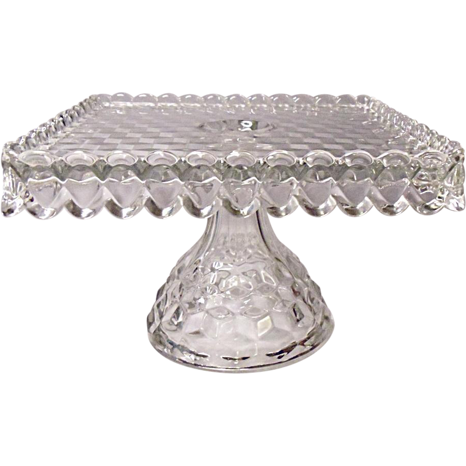Square Crystal Cake Stand