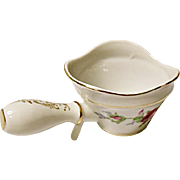 Vintage Mid-Century Norcrest China Company Dresden Rose Porcelain Open Butter Sauce - Handled Cup - MIJ