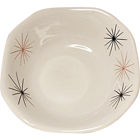 Restaurant Ware - Mayer China - Mid-Century Modern - Atomic Starburst - Square Soup - Salad Bowl