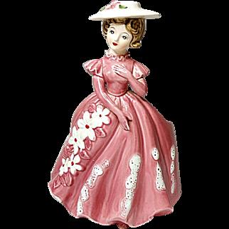SALE - SAVE 20% - Lovely Vintage - Relpo Lady Planter Figurine #5929