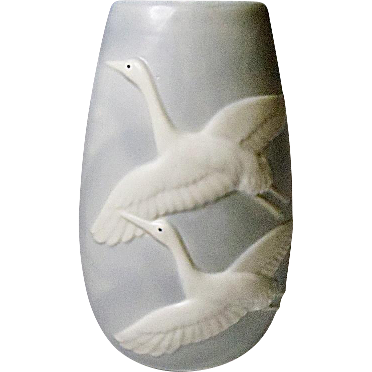 Lovely Fitz and Floyd Crane Vase 1984