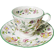 Minton Haddon Hall Chintz Bone China Demitasse - After Dinner Set