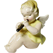 Vienna Austria Angel With Flute - Angel Band Figurine
