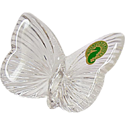 Crystal Waterford Butterfly Figurine Paperweight