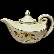 Damage Free - Vintage Hall Autumn Leaf Aladdin Jewel Tea Premium - Teapot