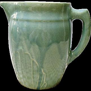 Vintage Western - Monmouth Yellow Ware - Stoneware Milk Pitcher - Jug - 1930's