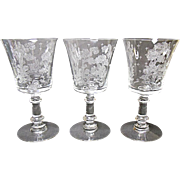 Fostoria - Depression Era - Elegant Willow 9 Ounce Water Goblets 1939-1944