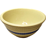 "Vintage 7"" Watt Banded Mixing Bowl - Yellowware -  Yellow Ware - Mid-Century - 1950's"