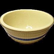 "Vintage 7"" Watt Banded Mixing Bowl - Yellowware -  Yellow Ware - Mid-Century - 1950's"