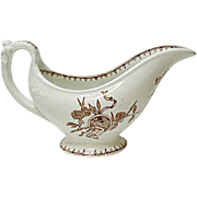 Antique Anthony Shaw Aesthetic Sauce - Gravy Boat - England - Transferware - Ironstone