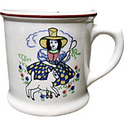 Vintage Shenango Little Bo Peep - Sheep - Child's Mug - Ironstone - Nursery Rhyme - Story Book