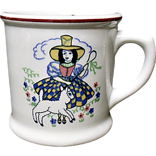 Vintage Shenango Little Bo Peep - Sheep - Child's Mug - Ironstone - Nursery Rhyme - Story Book