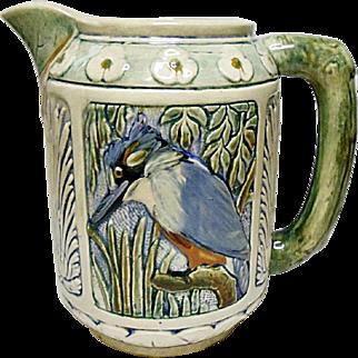 Very Vintage Weller Pottery Zona Pitcher Kingfisher 1920