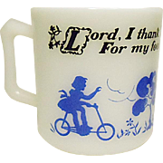 Vintage Hazel Atlas Child's Prayer Mug