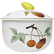 Royal Worcester - Evesham Gold - Fine Porcelain Butter Tub and Lid