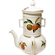 Royal Worcester - Evesham Gold - Fine Porcelain Side Handled Coffee Pot - Teapot Biggin