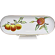 Royal Worcester - Evesham Gold - Fine Porcelain - Oval Mint Tray - Server